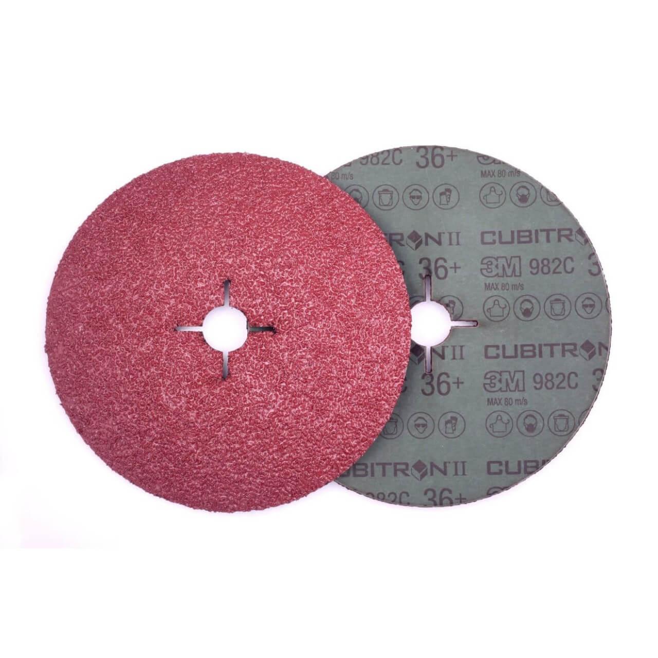 3M Cubitron II 982C 125x22 36+ Fibre Disc