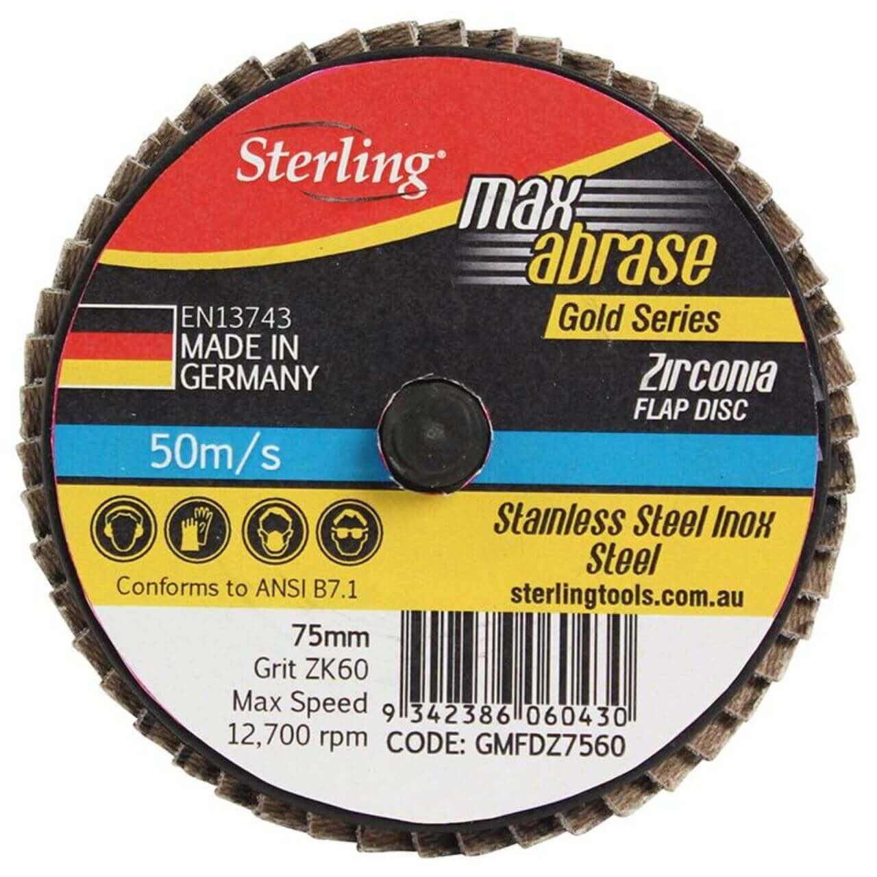 Mini Flap Disc 75mm Q/C Z40