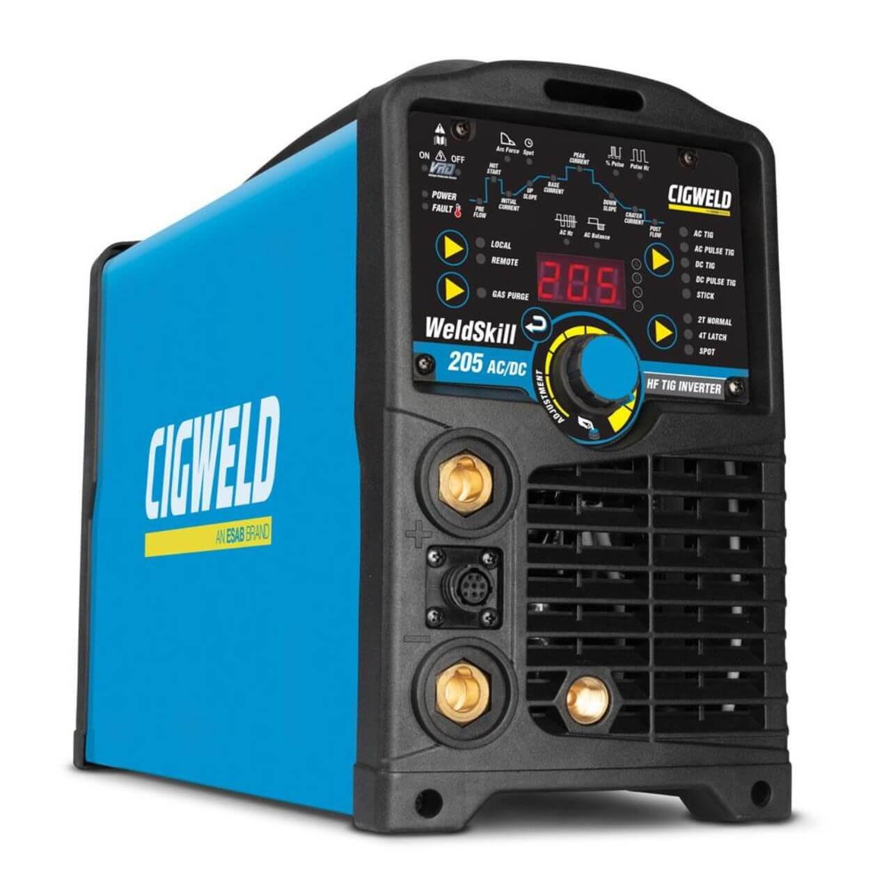 WeldSkill 205 AC/DC Inverter Tig Welder Kit 15A