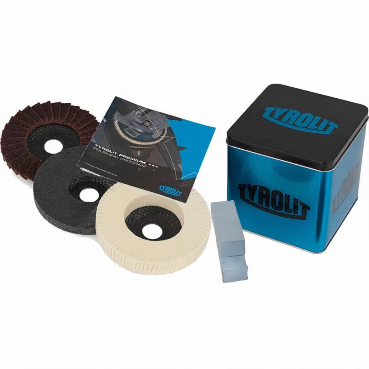 Tyrolit 125mm Premium Polishing Kit