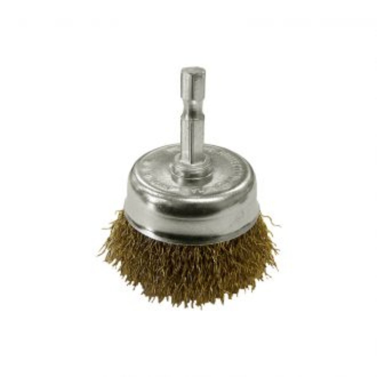 Josco Brumby 50mm Spindle Mount Crimped Steel Cup Brush