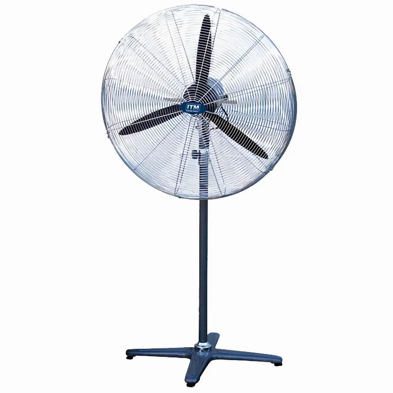 """Trademaster Industrial Fan. 30"""". 3 Speed. Oscillating. Pedestal"""