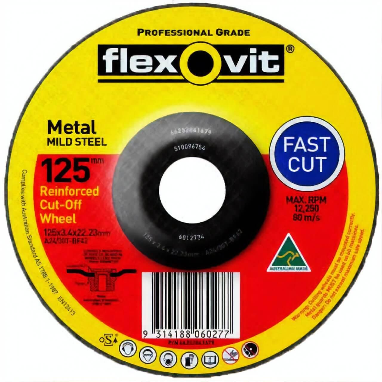 Flexovit A24/30T 125x3.4x22 DC Cutting Disc
