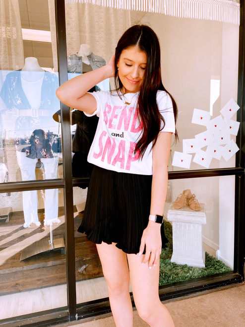 Black pleated short, cute black shorts that look like skirt