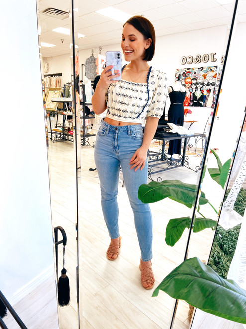 Vintage-inspired high rise mom jean