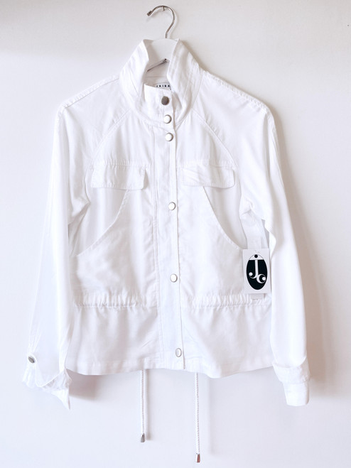 Women's white safari lightweight jacket