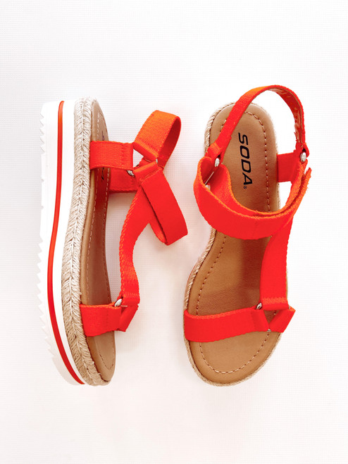 Women's orange sporty sandal
