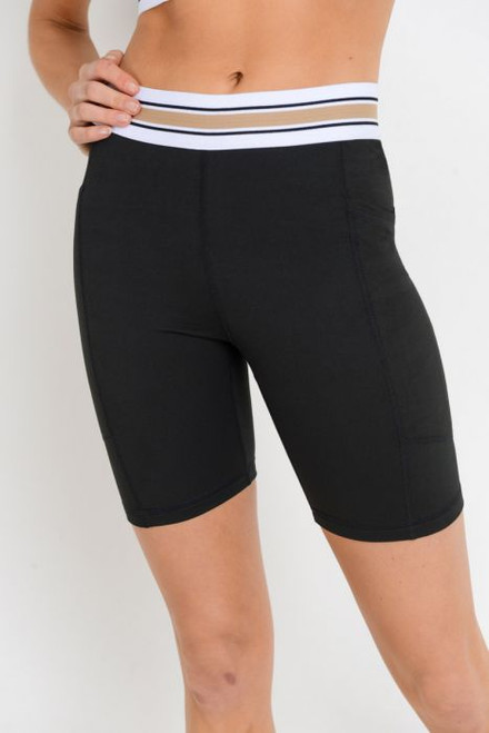 Tricolor Bike Short - Black/Taupe