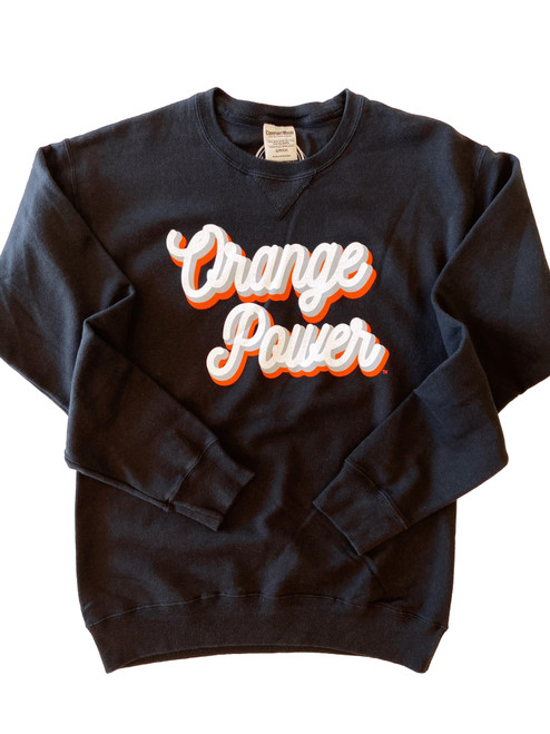 Oklahoma State University game day apparel, Orange Power pullover
