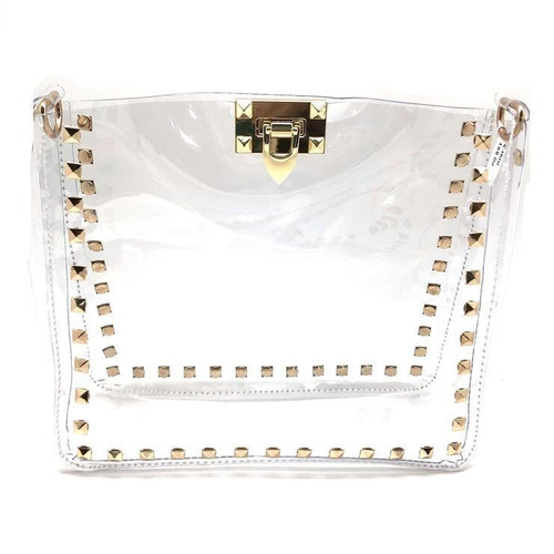 Stadium approved clear bag with gold studs