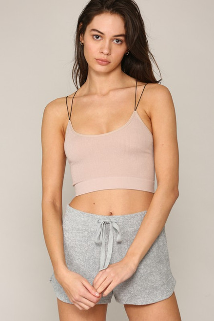 Women's dusty rose seamless cami