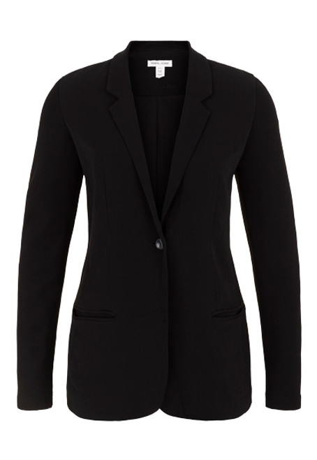 Women's classic black blazer with stretch sleeve
