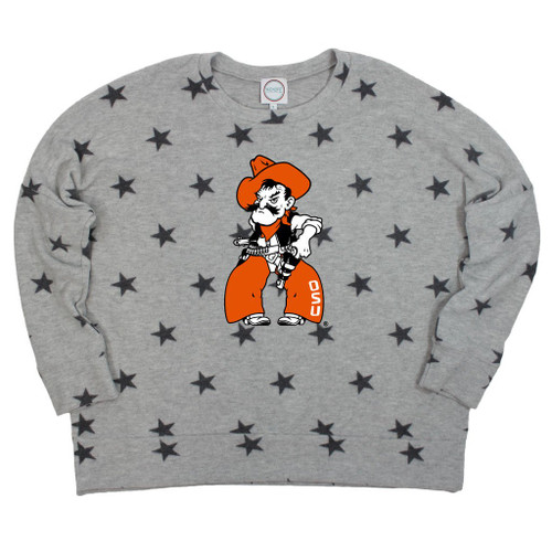 Oklahoma State University pistol pete pullover with stars