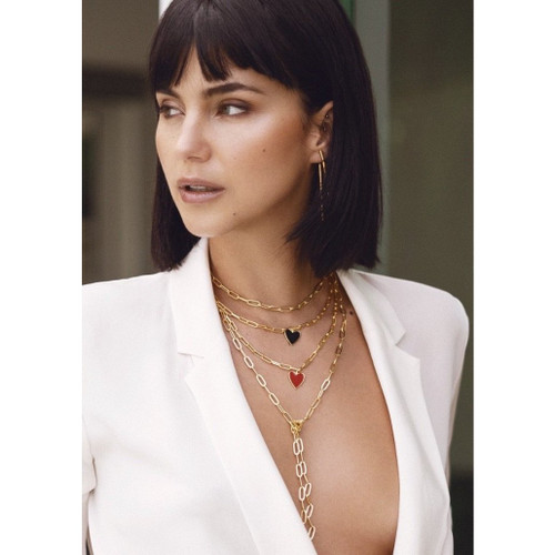 Jamie Enamel Heart Chain Necklace
