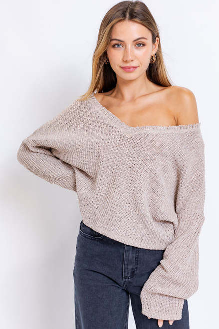 Lightweight v neck sweater, transitional sweater