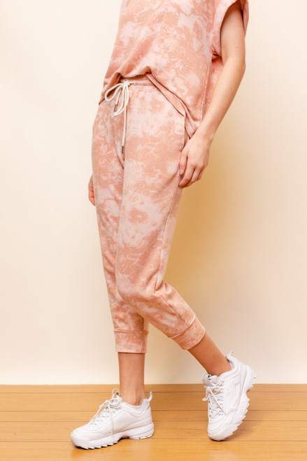 Clay tie-dye lounge jogger pant