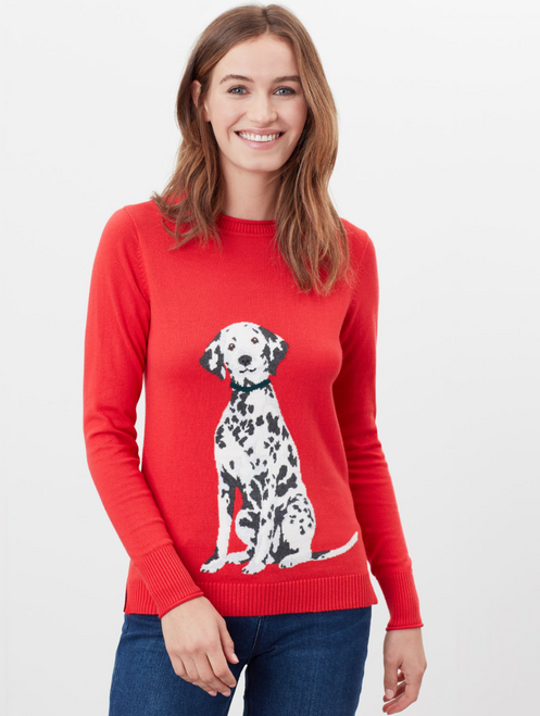 Red Dalmatian sweater