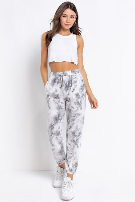 Gray tie-dye lounge set