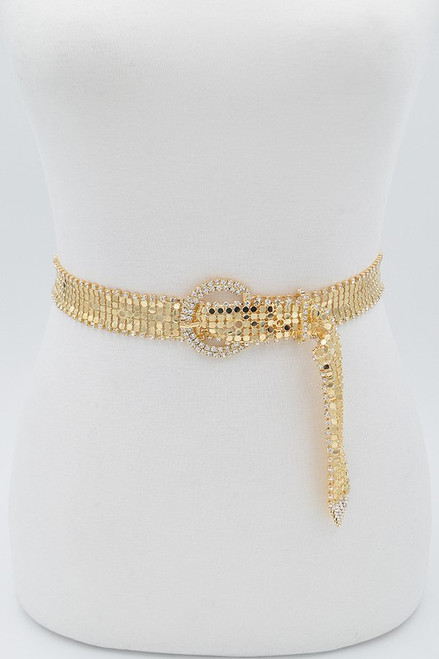 Rhinestone belt, gold and silver
