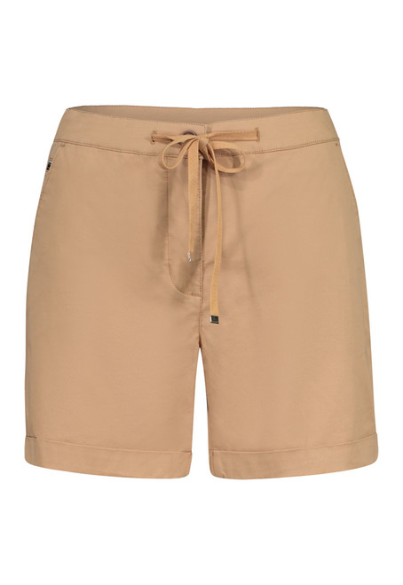 Tan khaki short with self-tie