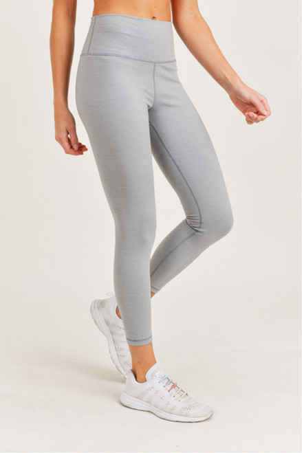 Light grey legging with matching sports bra