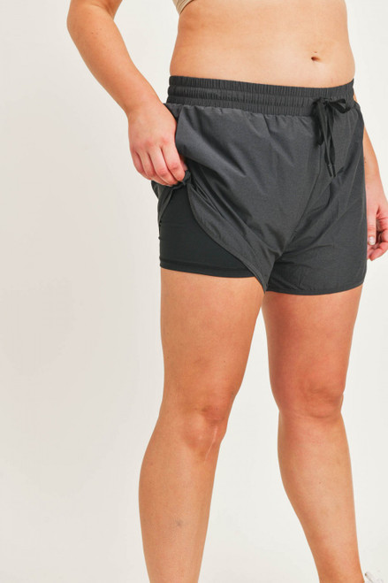 Charcoal shorts with inner lining