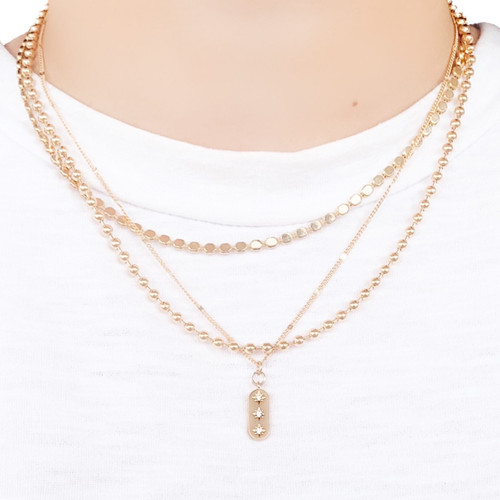 Shiny gold plated chain