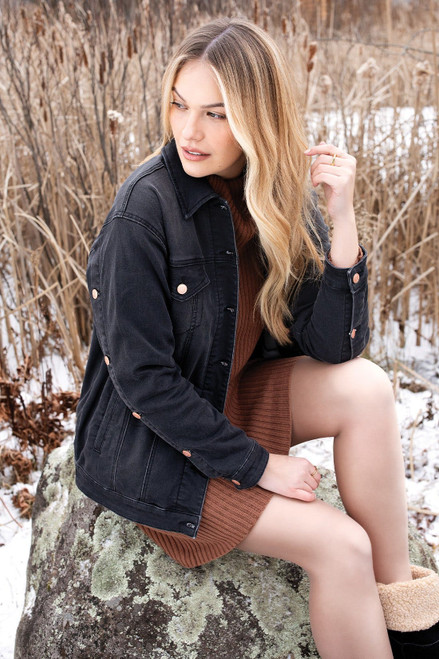 Chocolate brown cowl neck sweater dress