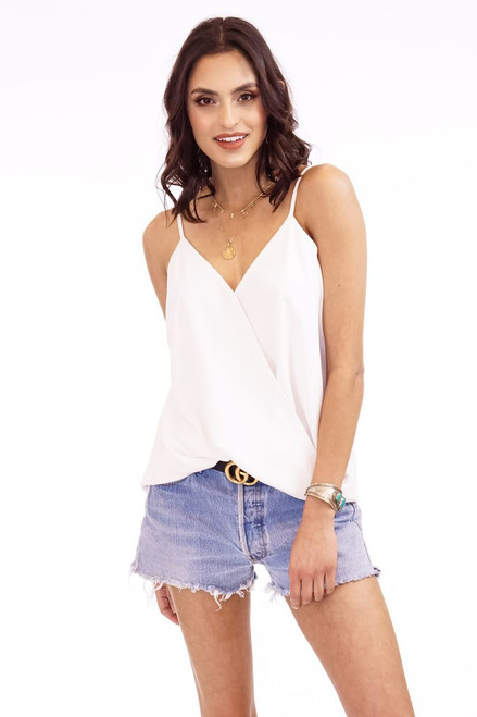 Women's ivory tank top, ivory camisole, dressy tank top