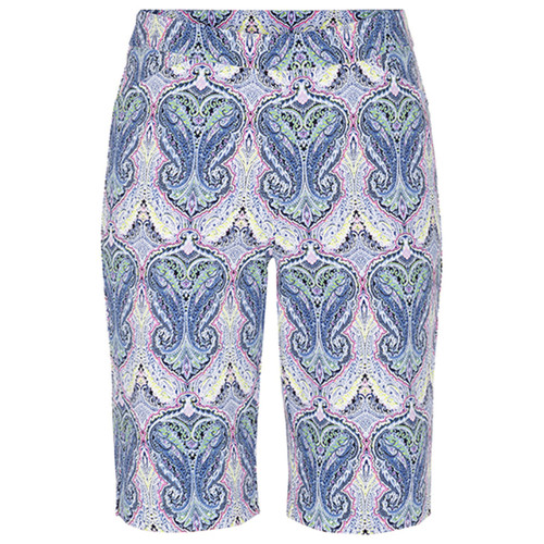 Paisley print stretch pull on bermuda short