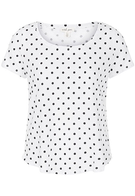 Black and white polka dot tee