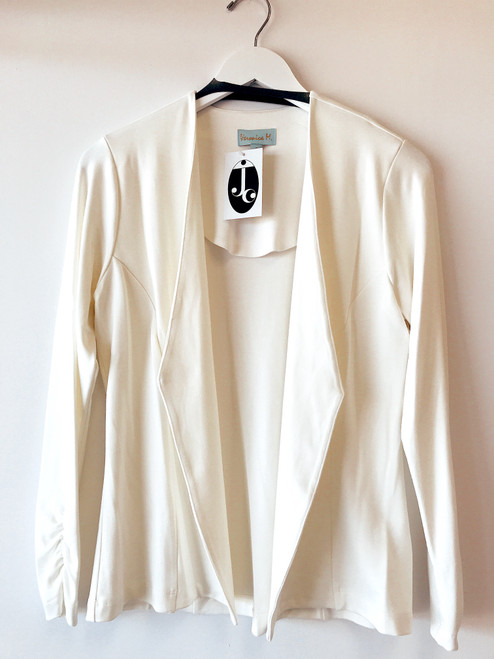 Women's stretch ivory blazer, professional wear, women's work clothes