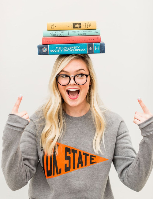 Oklahoma state university pullover, game day apparel