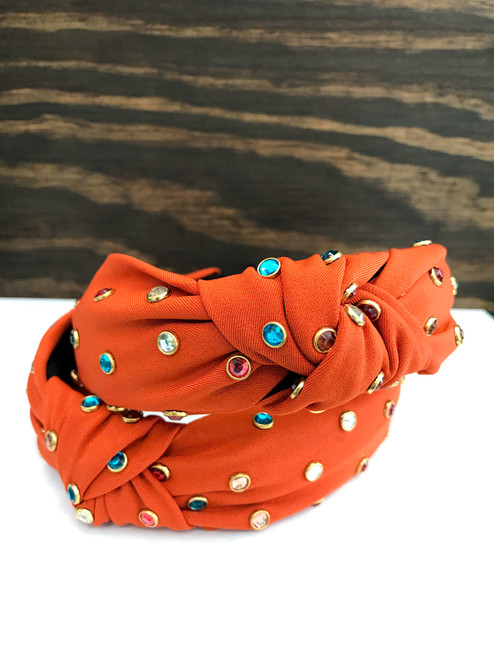 Orange Knotted Headband