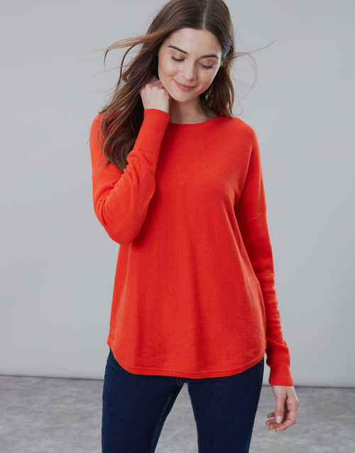 Women's orange knit sweater, lightweight sweater, game day sweater, women's work clothes