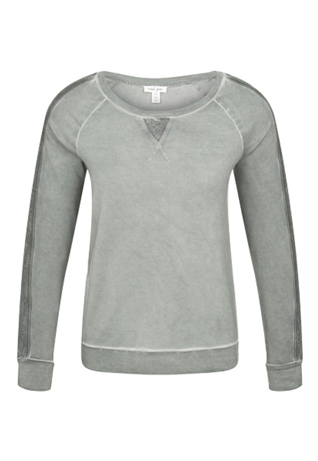 Women's soft army green sweatshirt