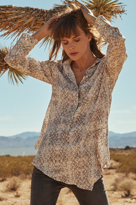 Women's snake print tunic top