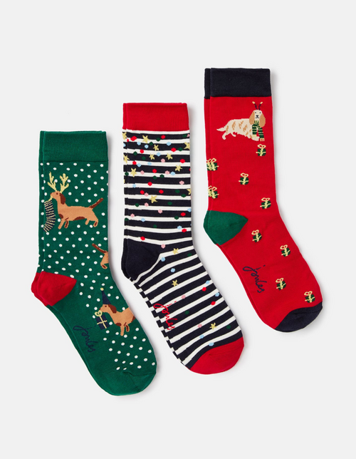 3 pack of Christmas socks