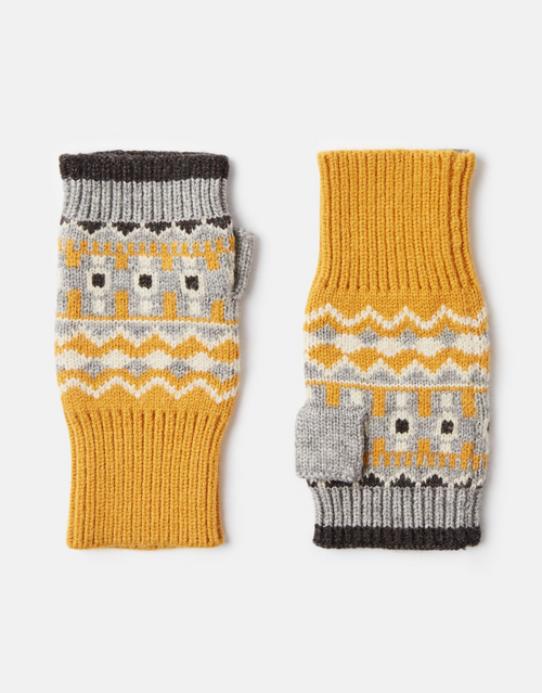 Gold fingerless gloves, cute winter acessories