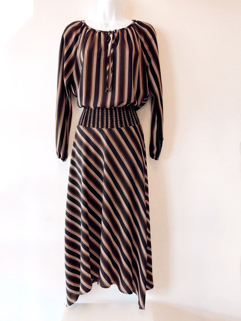 Women's peasant maxi dress, cute holiday dress, cute dress, work dress