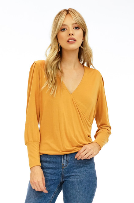 Women's mustard blouse