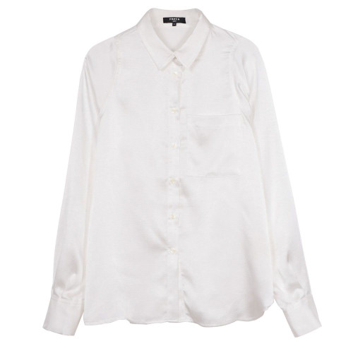 Women's ivory button up blouse, women's work blouse
