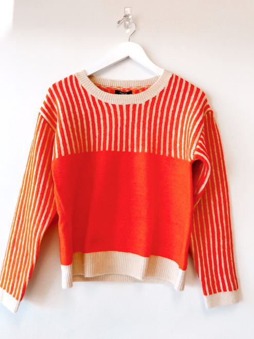 Cute orange sweater, striped orange sweater