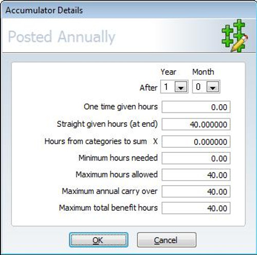 Time America Benefit Accruals Software Module