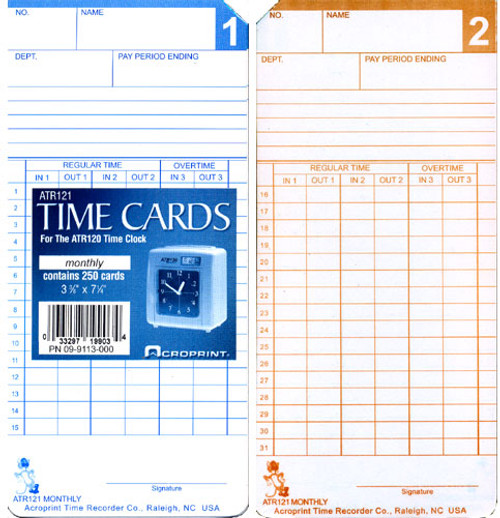 Acroprint ATR120 Time Cards