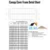 ShoreMaster Traditional Canopy Cover - 13oz Vinyl