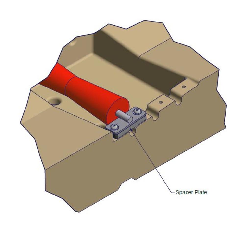 ShorePort Keel Roller Spacer Plate