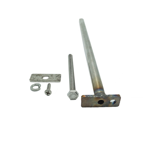 """Poly Connector Rod Long 13-7/8"""" 316 Stainless Steel with Hardware"""
