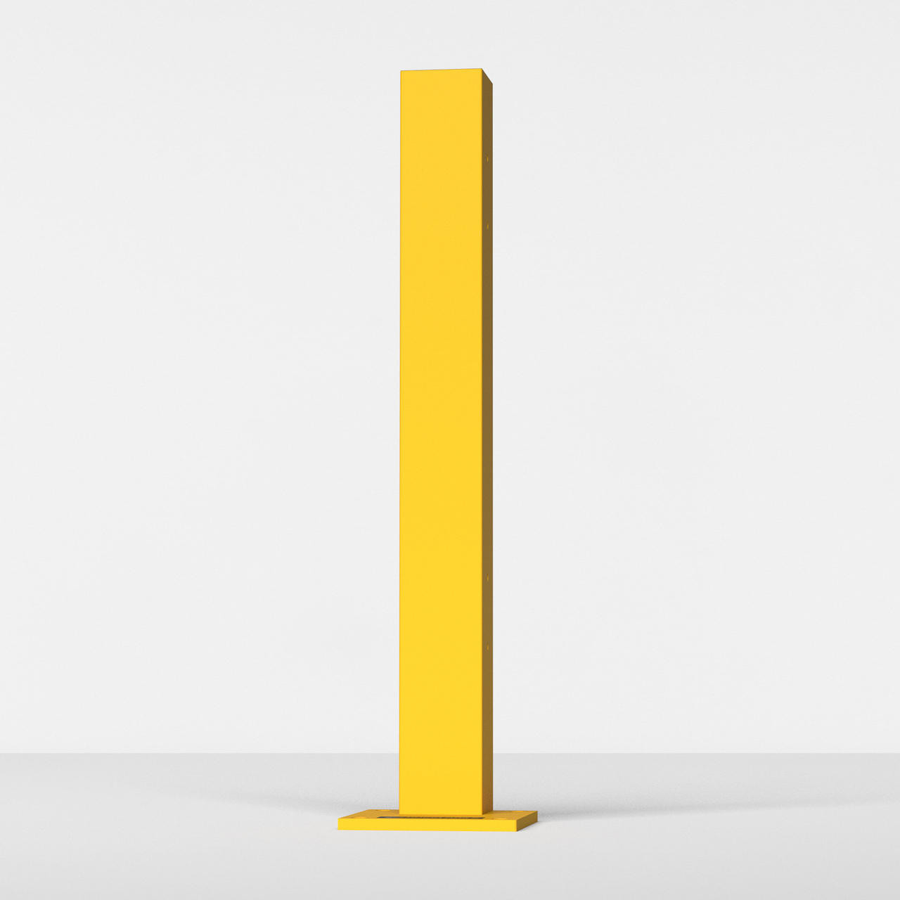 """RR-CSO-2 - 43"""" Guardrail Column with Offset Baseplate"""