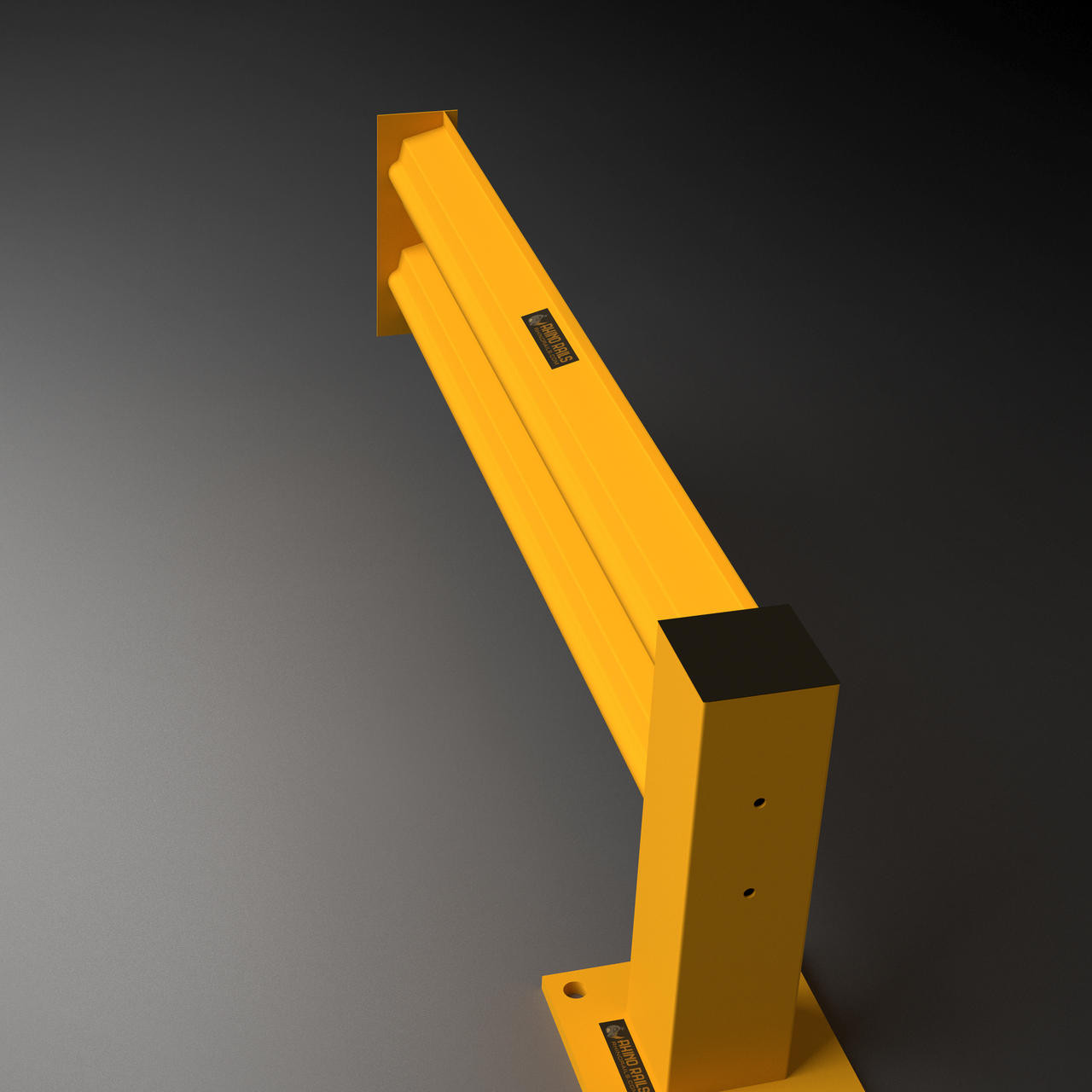 Rhino Rails Single High Heavy Duty Guardrail Add On Kit - 4ft - 10ft Options